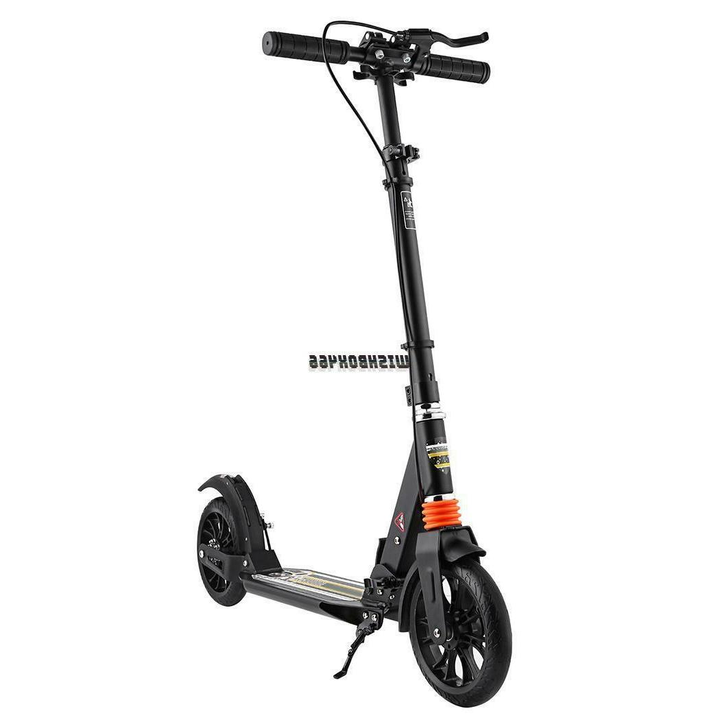 Folding 2 Adult Kick Scooter Adjustable Height Rear Suspension US