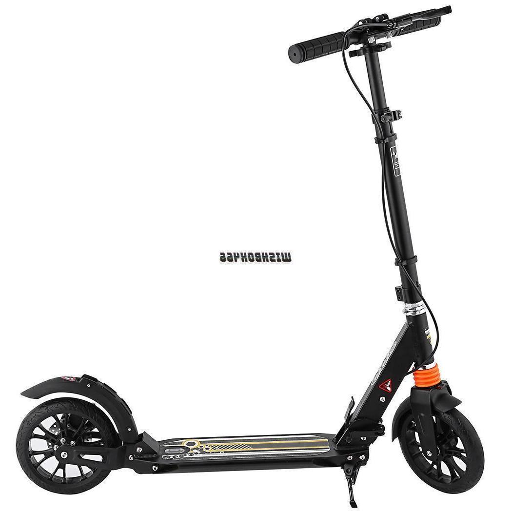 Folding Aluminum 2 Wheel Adult Kick Adjustable Height Rear