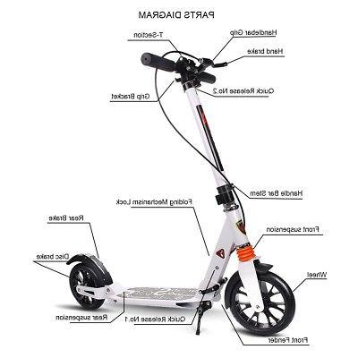 Adult Scooter Height Dual Suspension