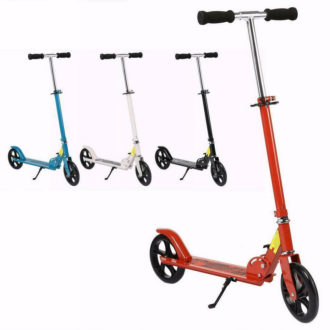 Folding Aluminum 2 Wheels Adult Kick Scooter Adjustable Heig