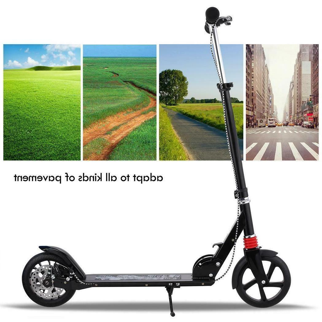 folding aluminum 2 wheels adult kick scooter