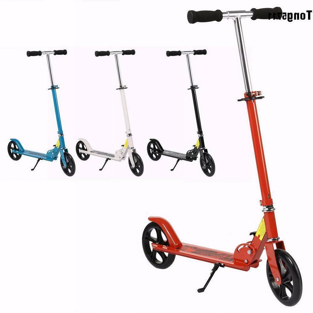 folding aluminum kick scooter 2 wheels foldable