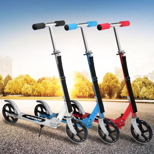 folding aluminum kick scooter 2 wheels foldable