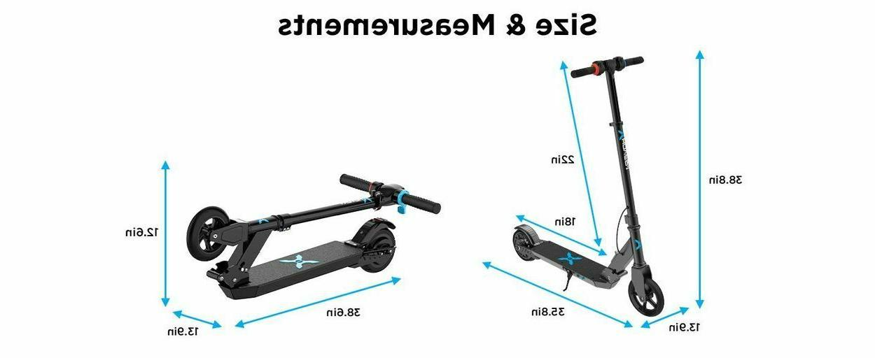 Folding Electric Scooter Kids Built In Rechargeable Battery Portable Ride