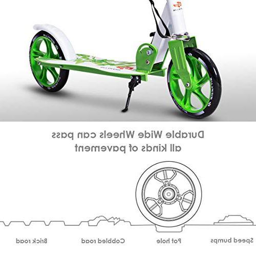 for Teen 2 Big PU Wheels Glider Kickstand Capacity