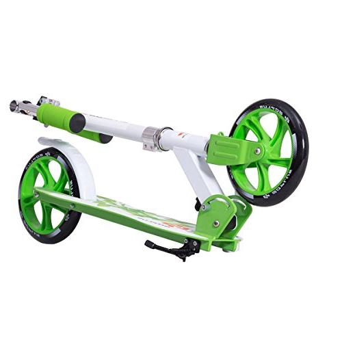 Goplus for Teen Deluxe Aluminum 2 Big PU Wheels Glider Adjustable Kickstand Capacity