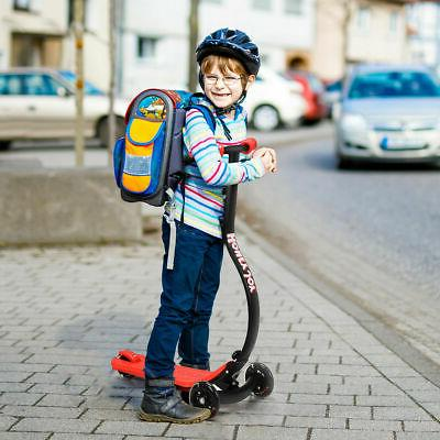 Folding Kids Scooter C Shape Anti-Collision w/ PU Flash Gift