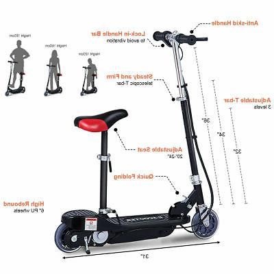 Folding Rechargeable Seated Scooter Ride Outdoor