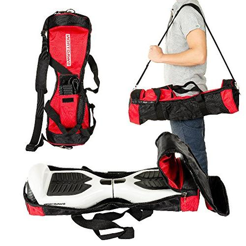 hoverboard carrying red bag cover