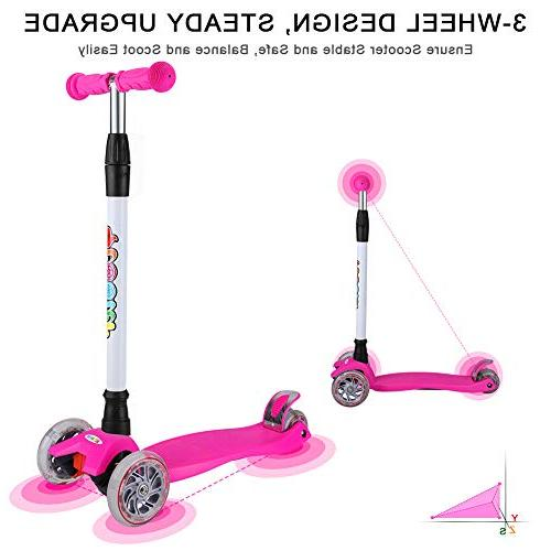 BELEEV Kids 3 Wheel 4 to Steer LED Up Wheels for from to 14 Years