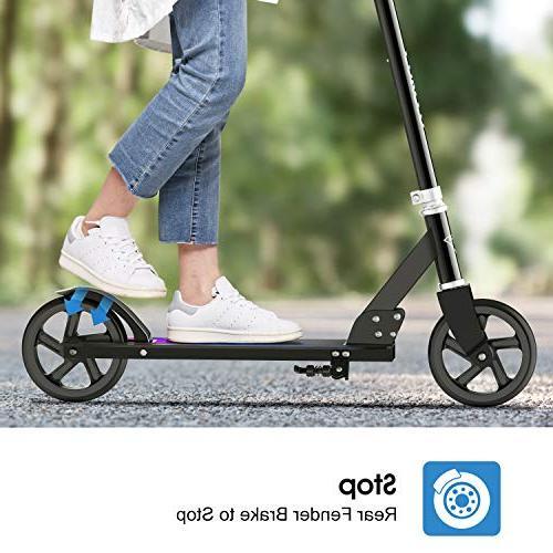 ENKEEO Kick 220 Adjustable and Wheels, Foldable Commuter Kids,