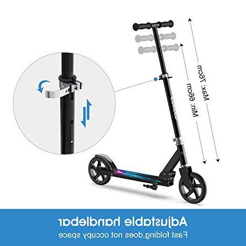 ENKEEO Kick Scooter 220 Adjustable and Wheels, Smart Brake Foldable Kids, Adult