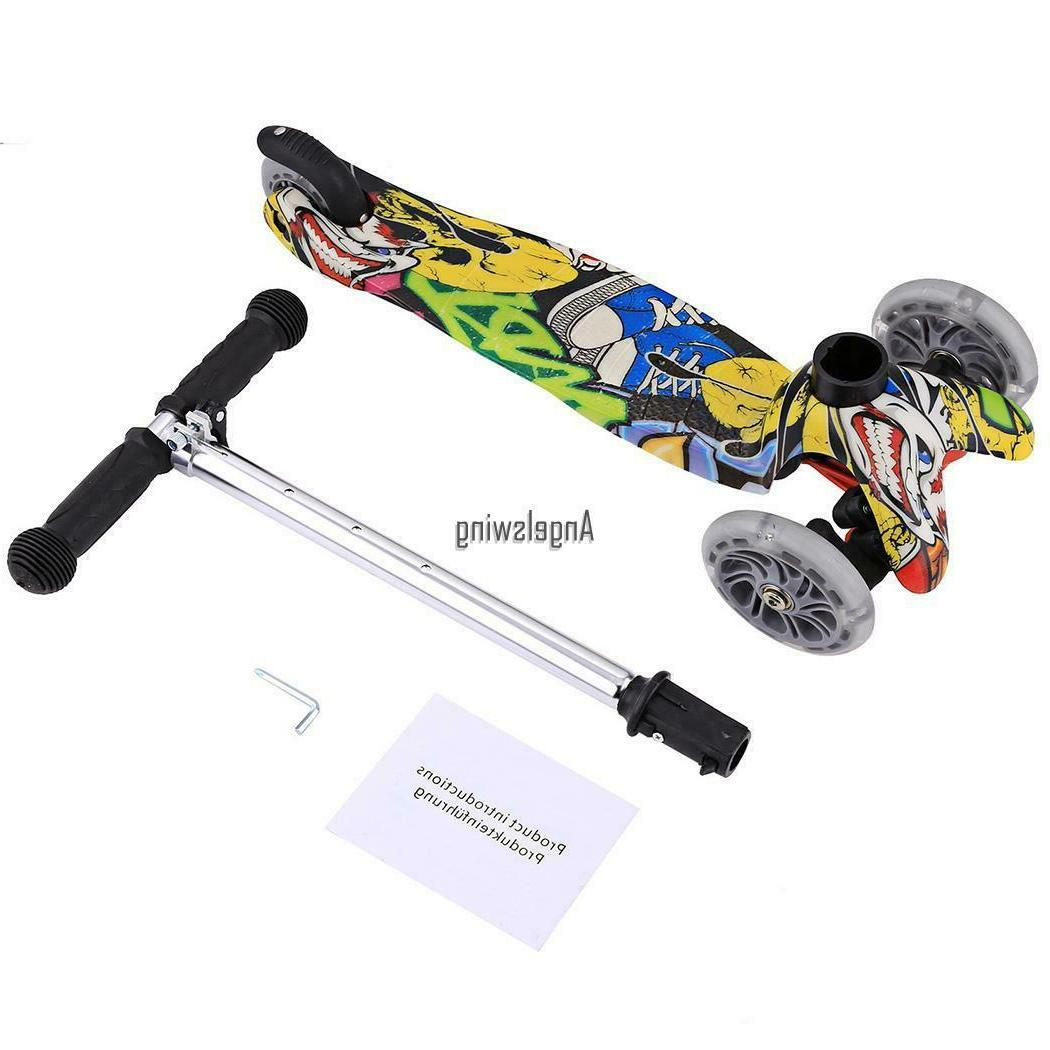 Kids Scooter Age 3-12 Adjustable Scooters Girls Boys Wheels