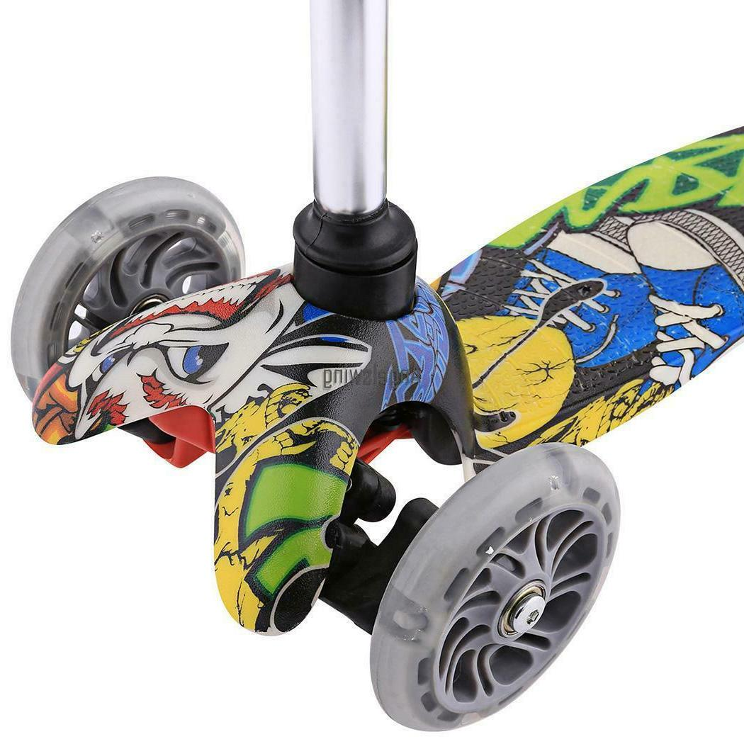 Kids Scooter Deluxe Age 3-12 Kick Scooters 3LED Wheels