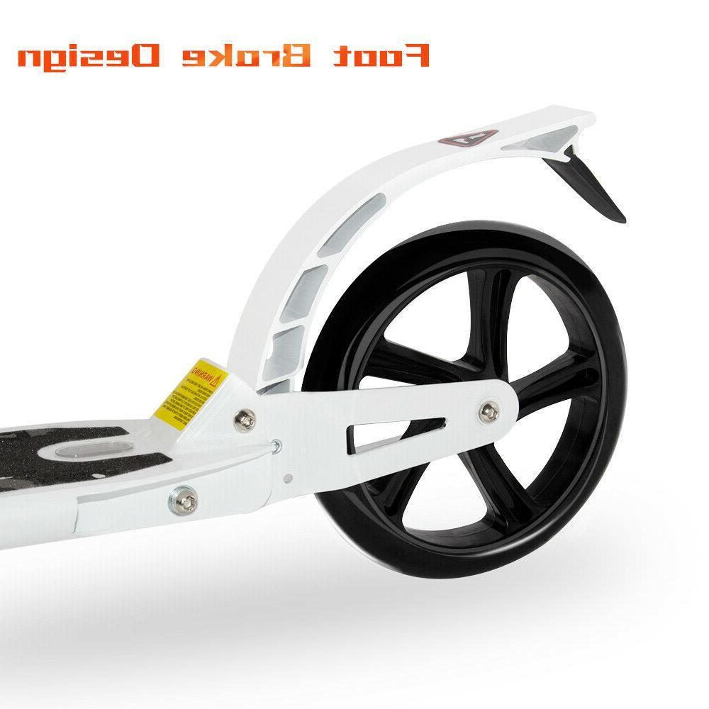 Kick Scooter 2 Wheel Kids Adult Ride Adjustable