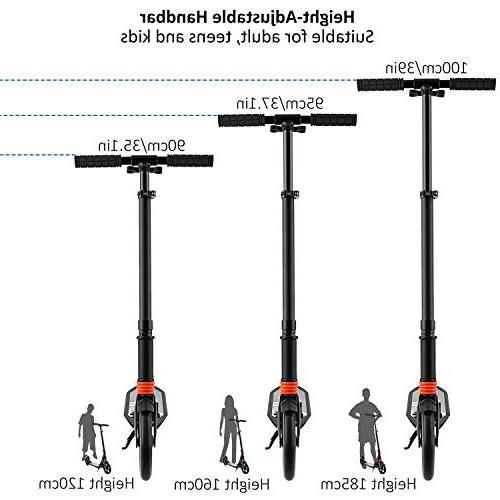 Hikole Adult Kick - Suspension Folds Down Fast - 2 Big Wheels 220lb Weight