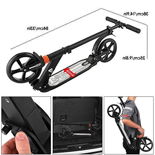 - Folds Down - Handlebar & Fast Big Wheels - Weight