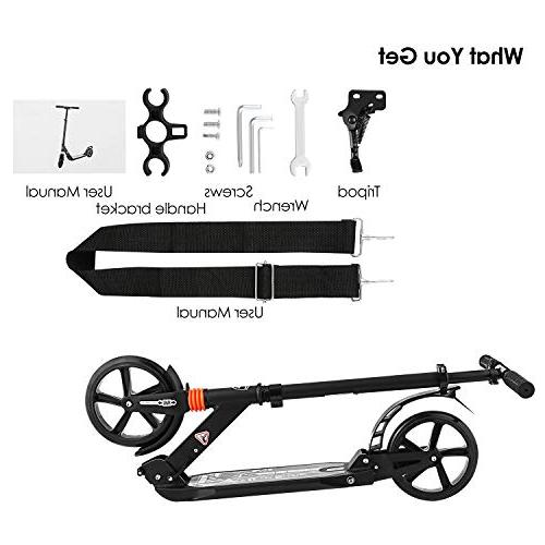 Hikole - Dual Folds Down Handlebar - Smooth Fast - Big Wheels - 220lb Weight Limit