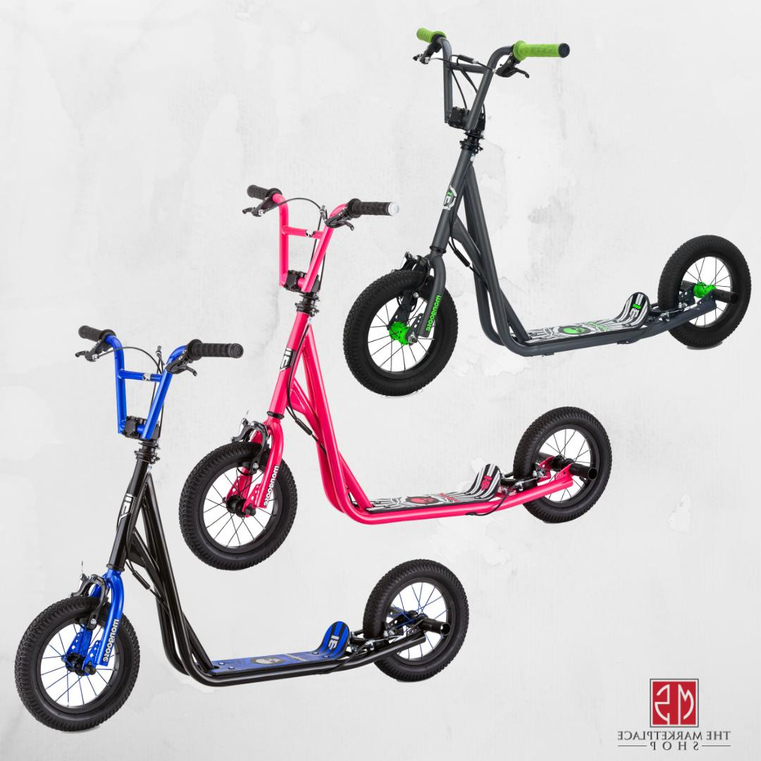 kick wheel scooter scooters inflatable tires breaks