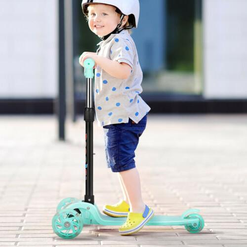 Green Kick Scooter-Toddler Tricycle Baby 3 In 1 Balance Bike