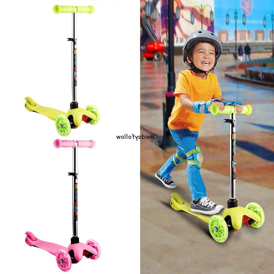 Kids Kick Scooter LED Adjustable for Outdoor