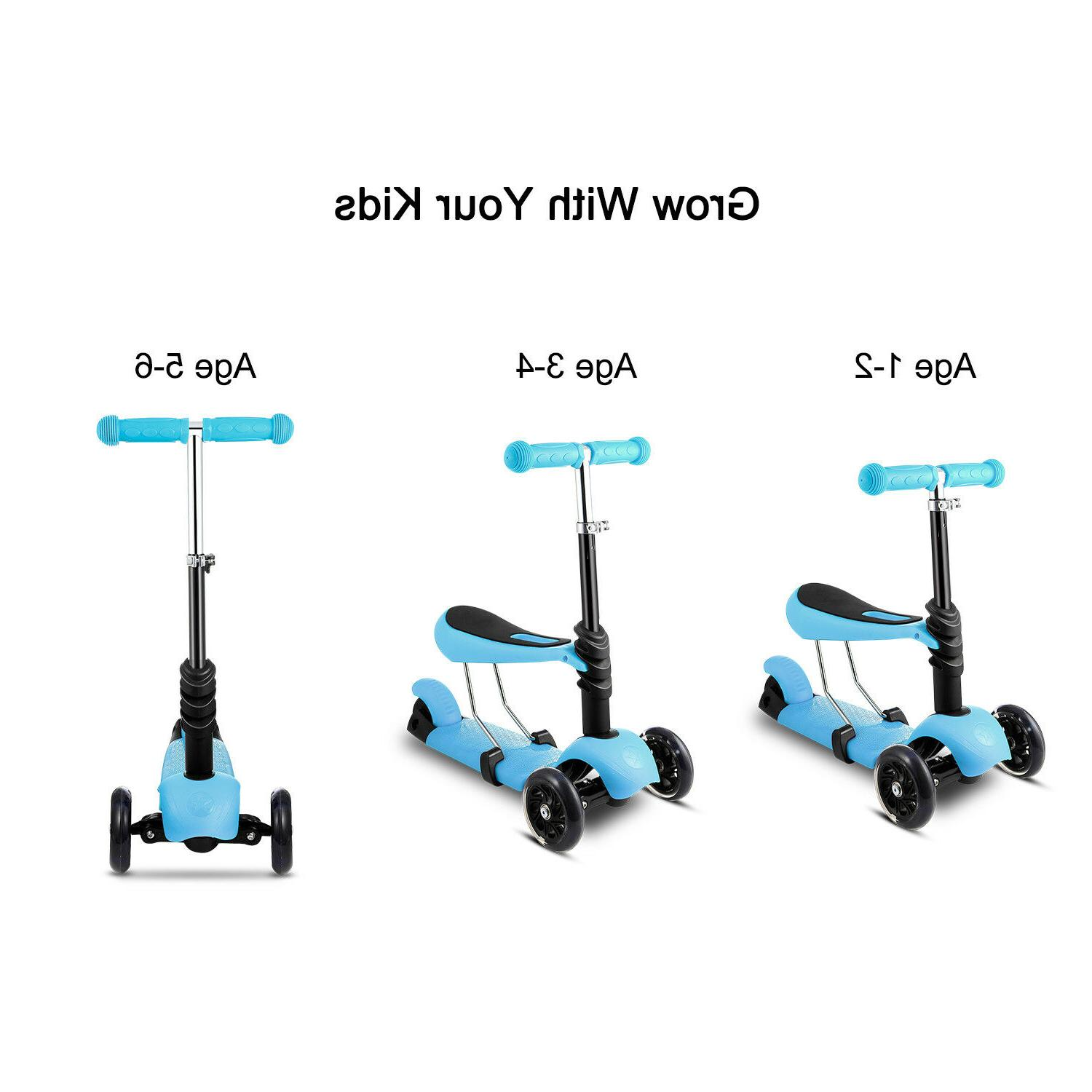 3 in 1 mini kick children scooter