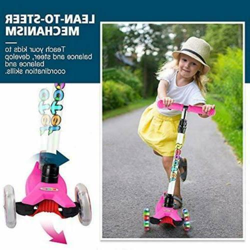 kids 3 wheel kick scooter