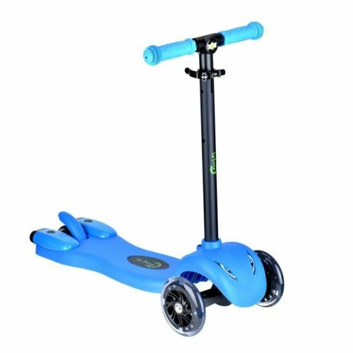 Kids Age 2-9 Scooters 3 LED Wheels+ Sprayer