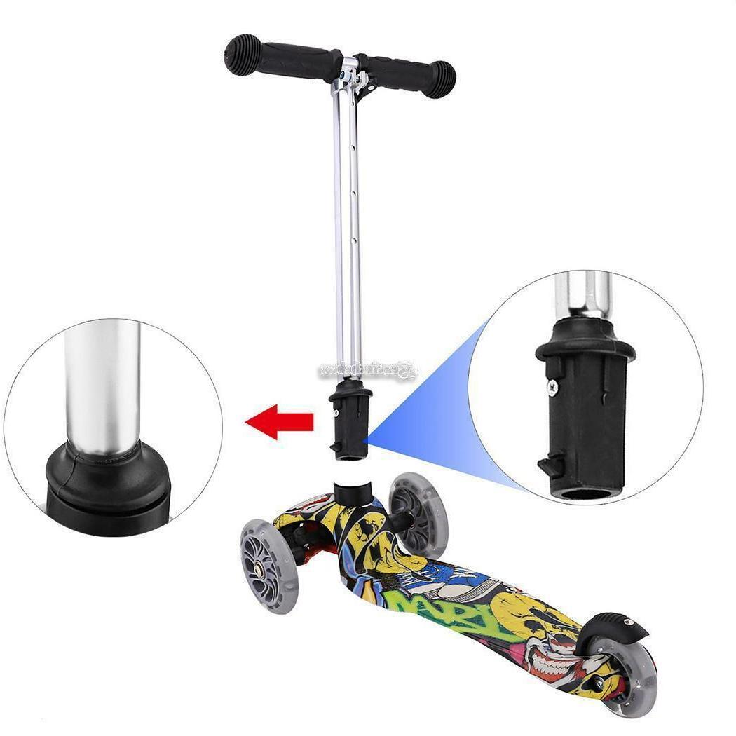 Age 3-12 Adjustable Kick Scooter Girls LED