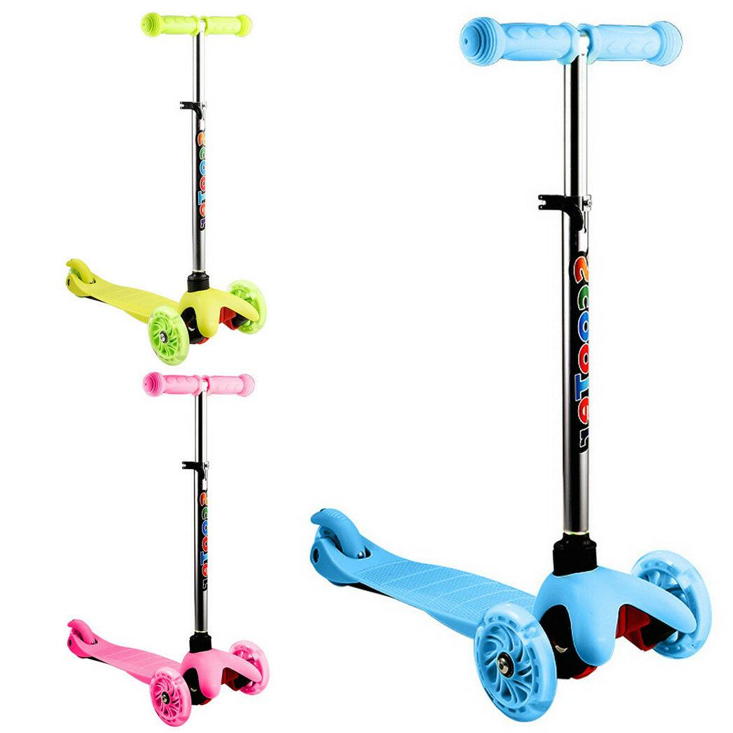 Kids Scooter Deluxe Age Scooter Girls Boys LED Wheel