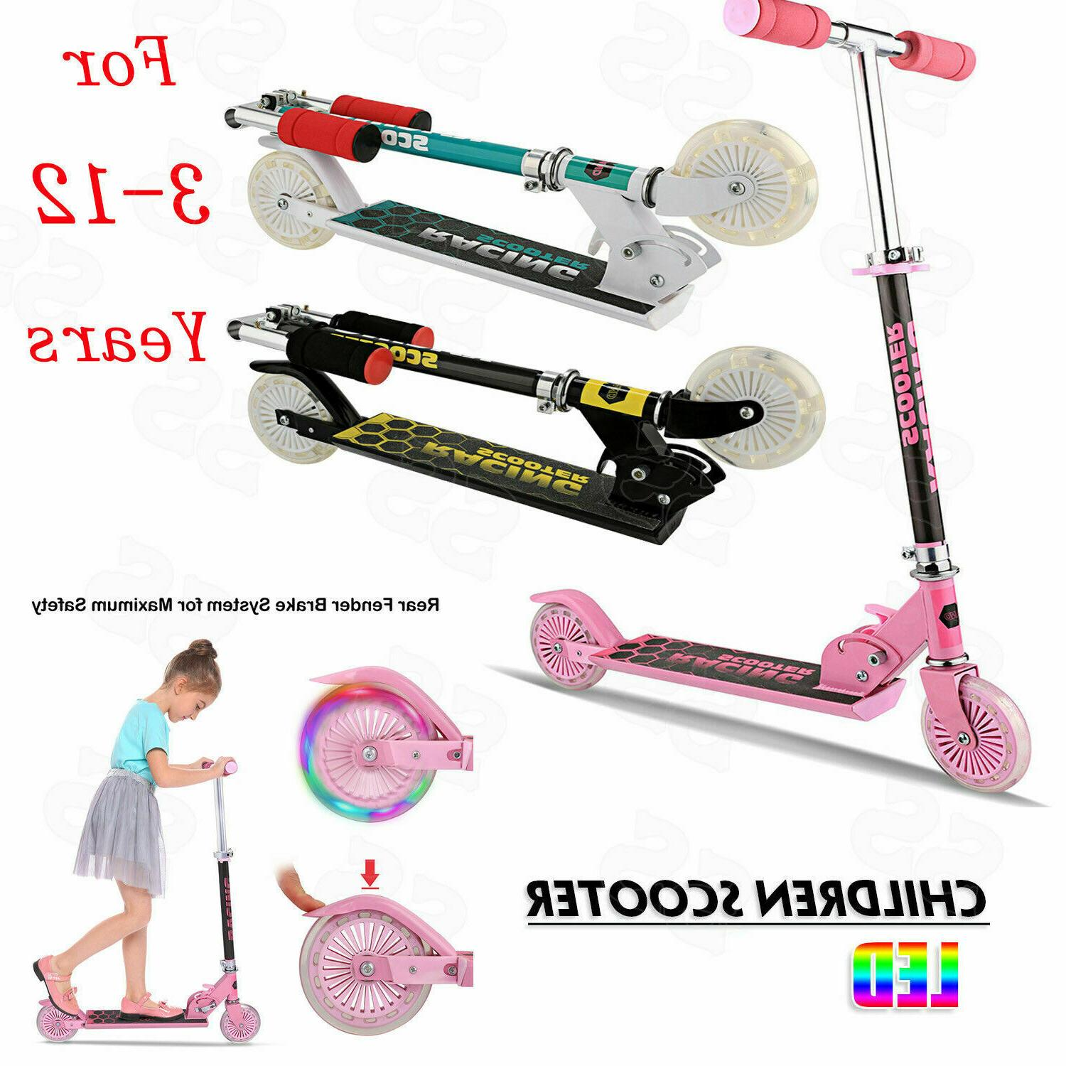 Kids Toddler Kick Scooters Girl Wheels^