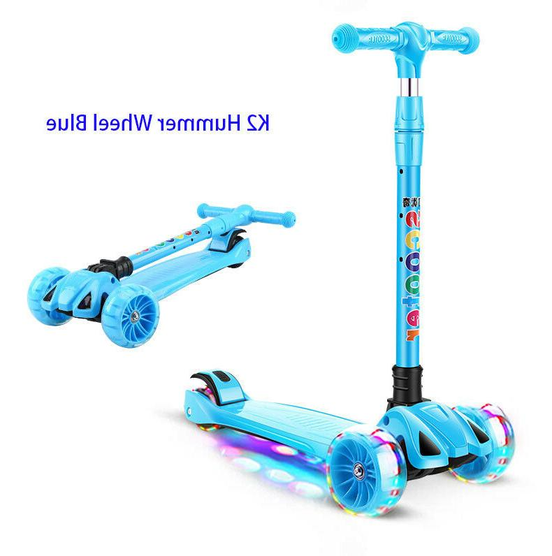 LED Scooter Kids Deluxe with Kick Go Lean colors
