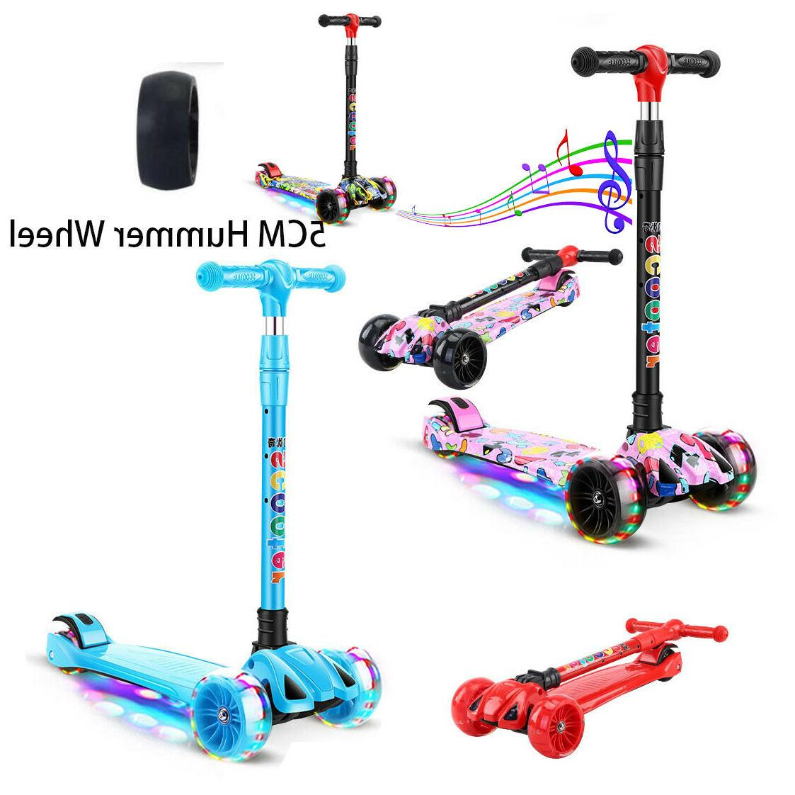 led scooter for kids deluxe 3 wheel