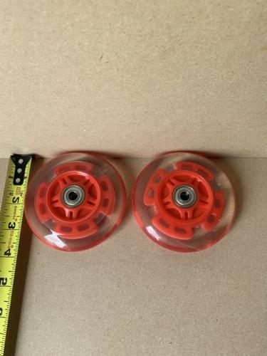 LED scooter wheels bearings scooters light up red