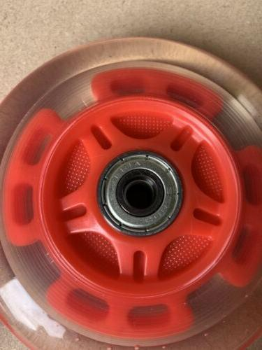 bearings scooters light red