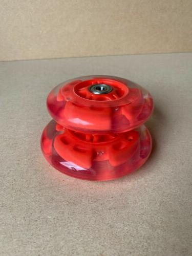 LED scooter wheels bearings light red