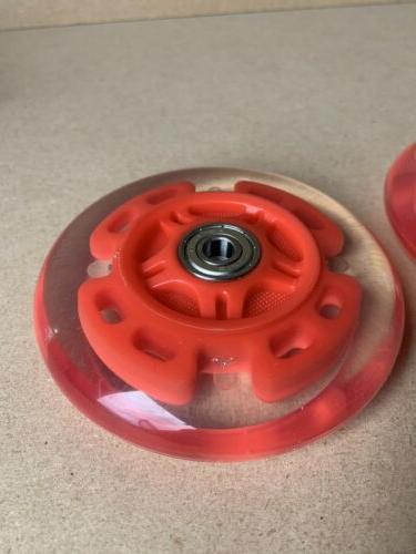 LED bearings light up red