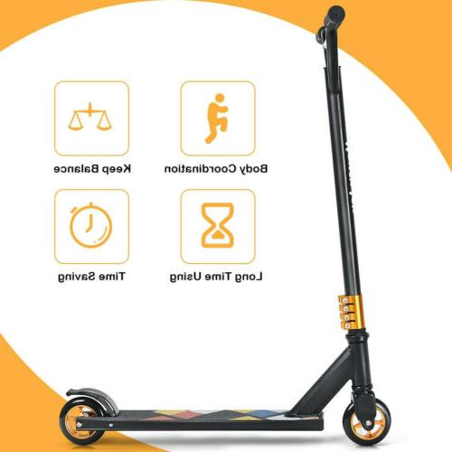 Lightweight Freestyle Kick Scooter Teenagers Black