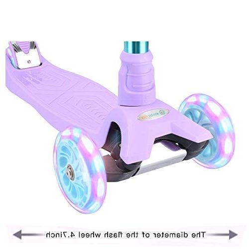 WonderView Kids 3 Wheel Height Extra Gifts Purple