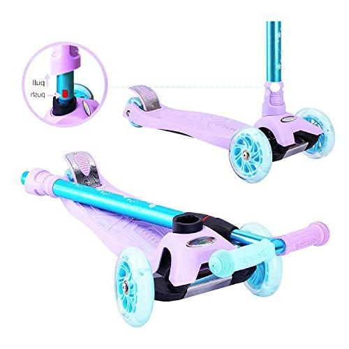 WonderView Scooter 3 Height Pu Extra Wide Gifts Boys Purple