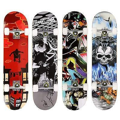 Maple Deck Complete Skateboard Longboard Skate Scooter