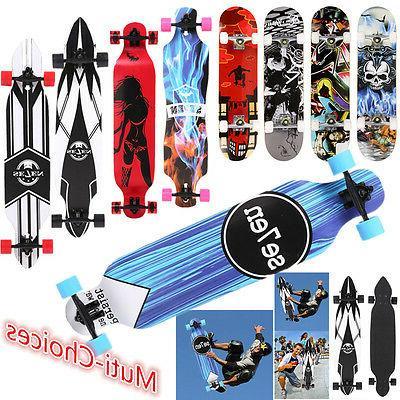 maple wood deck complete skateboard stained longboard