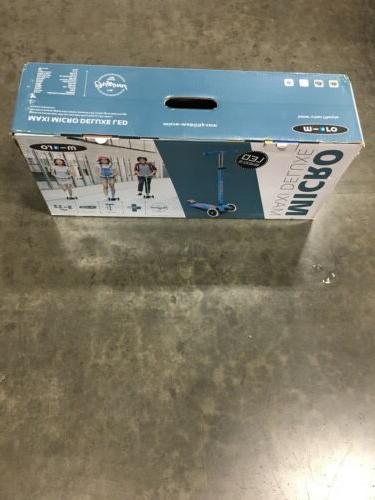 Micro Kickboard Deluxe LED 3-Wheeled for Kids Ages Aqua