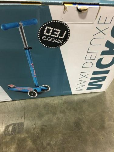 Micro Kickboard Deluxe LED Scooter for Ages Aqua