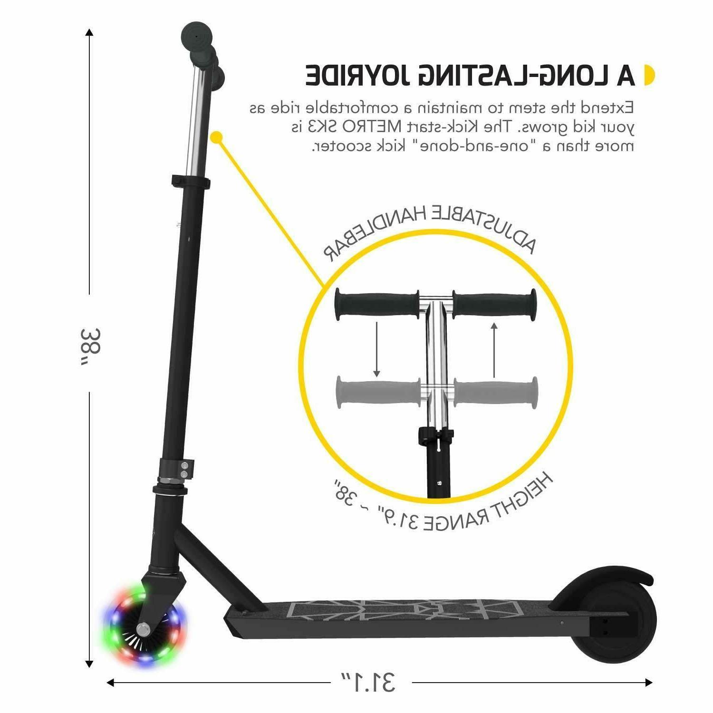 Swagtron Metro SK3 Kick-Start w/LED Wheels