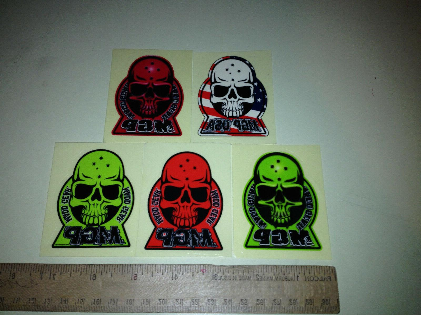mgp freestyle scooter skull decal sticker a4