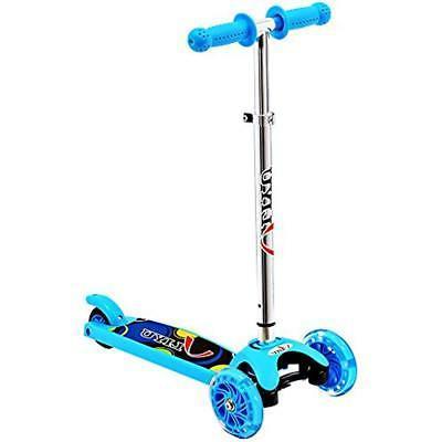 micro kick scooters 3 wheel with flashing