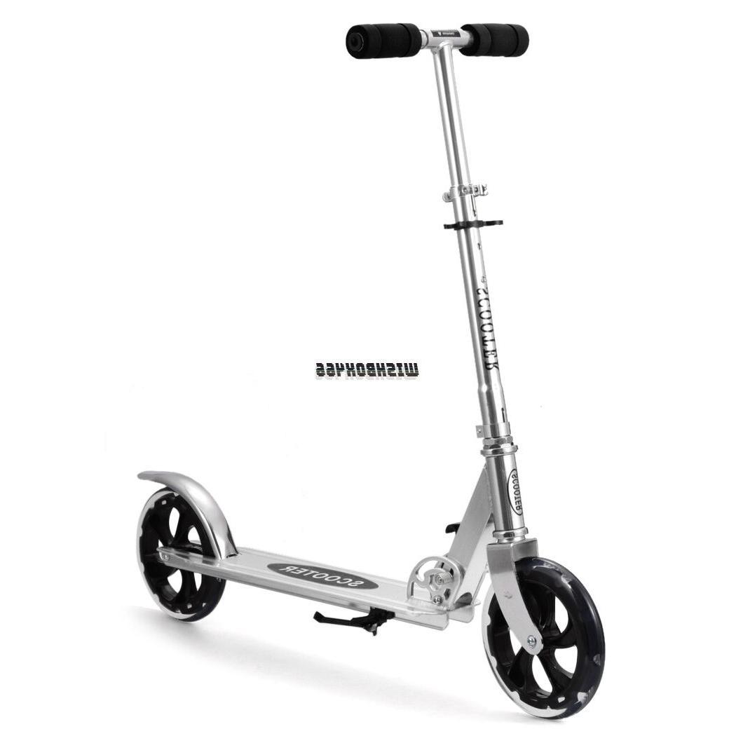 Foldable Children Adult T-bar Push Kick Scooter Bike 200mm W