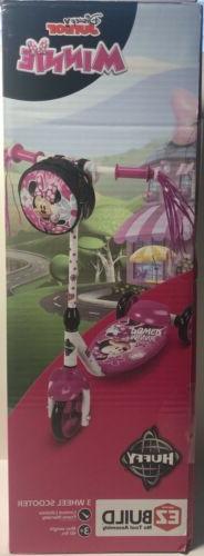 Preschool Scooter for Girls by Huffy, Disney Minnie 3 Wheel
