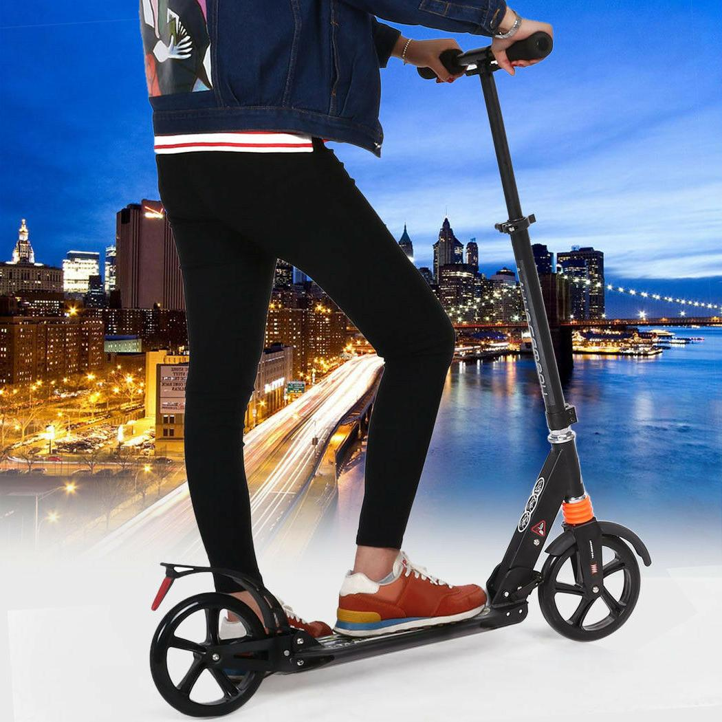 Kick Scooter Height Adjustable Adult Folding Aluminum Alloy